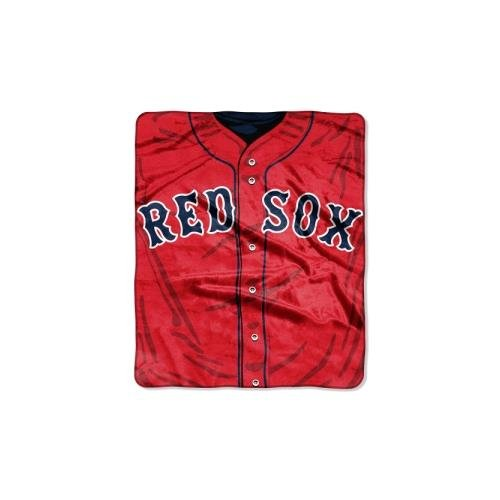 MLB Boston Red Sox Jersey Plush Raschel Throw, 50
