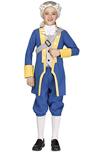 Fun World Big Boy's George Washington American Costume Childrens Costume, Multi, -