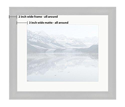 Ashley Framed Prints, Harvard Glacier At College Fjord Prince William Sound Alaska Wall Art Decor Giclee Photo Print In Black Wood Frame, Soft White Matte, Ready to hang, 16x20 Art by Ashley Framed Prints (Image #1)