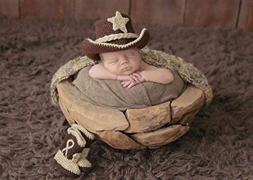 0fdfe357 Image Unavailable. Image not available for. Color: Crochet Baby Cowboy Hat  Boots, Farmer Costume ...