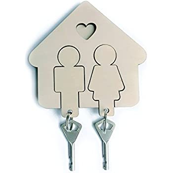 Amazon Com His And Her Key Holder Home Amp Kitchen