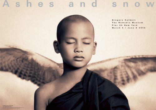 Winged monk New York exhibition (giant poster) (Ashes and Snow Posters)