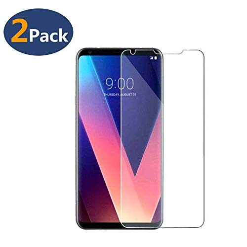 LEDitBe for LG V30/V30 Plus Screen Protector Tempered Glass [2 Pack][9H Hardness][Ultra Clear][Anti Scratch][Bubble Free] HD Clear 9H Tempered Glass Screen Protector Film for LG v30/v30 Plus