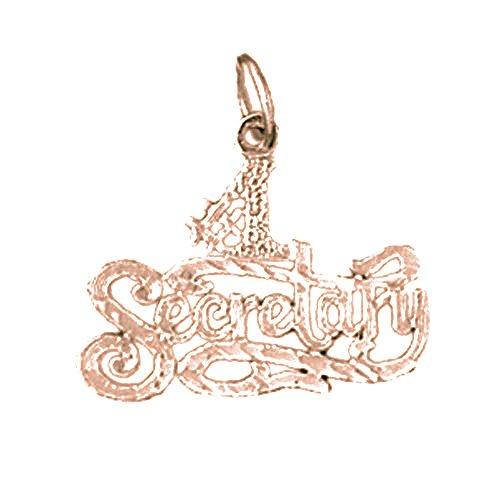 - Rose Gold-plated Silver 19mm #1 Secretary Pendant