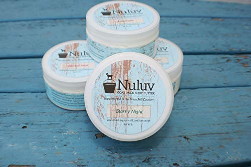 Set of 2 Nuluv Goat Milk Products 8oz. Jars Body Butter by Nuluv Goat Milk Products