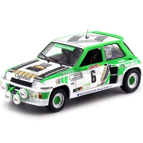 Solido 1/18 Scale Model Car - S1801303 Renault 5 RS Turbo Gr.B Rallye de Lozere