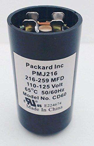 Packard PMJ216 Motor Start Capacitor 216-259 mfd, 110-125v