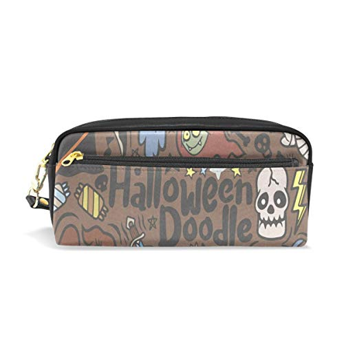 Pencil Case/Makeup Bags Halloween with Vampire Witch Mummy Wolf Ghost Big Capacity Portable Pencil Bag for College Students/Women/Adults ()