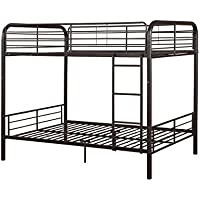 ACME Bristol Dark Brown Full over Full Bunk Bed