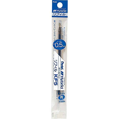 Pentel 0.5mm Tip Gel Ballpoint Pen Refill for Hybrid EK105, Blue Ink (XKF5-C)