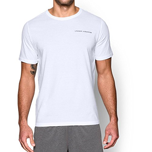 Under Armour Mens Charged Cotton T Shirt  White Graphite  X Large
