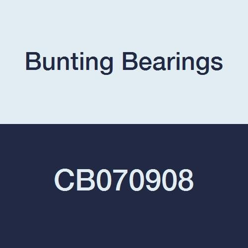 Bunting Bearings CB070908 Sleeve (Plain) Bearings, Cast Bronze C93200 (SAE 660), 7/16'' Bore x 9/16'' OD x 1'' Length (Pack of 3) by Bunting Bearings