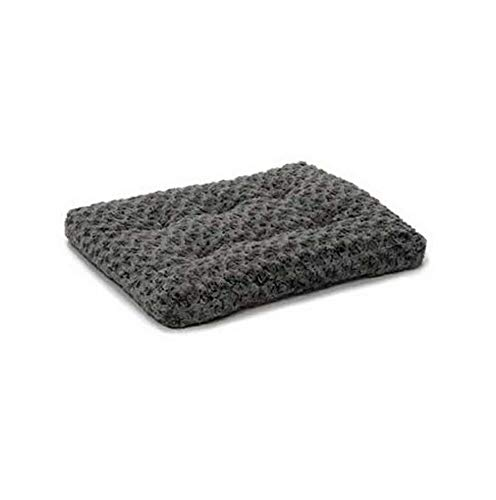 Wastebasket Broncos - Hebel Midwest Homes for Pets Ombre Gray Swirl Plush Fur Dog Bed/Ideal for Dog Crates | Model SF - 808 | 18 in.