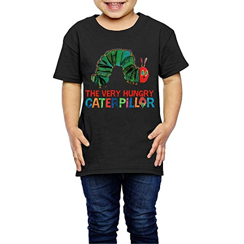 Wzfa Children's The Very Hungry Caterpillar Cool T-Shirt for Girls Or Boys T Shirts Black 5-6 Toddler