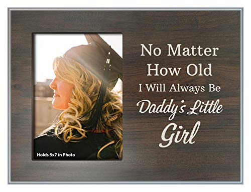 ThisWear Dad Daughter Gifts No Matter How Old Always Daddys Girl Frame Wood Photo Plaque Picture Frame Wood ()