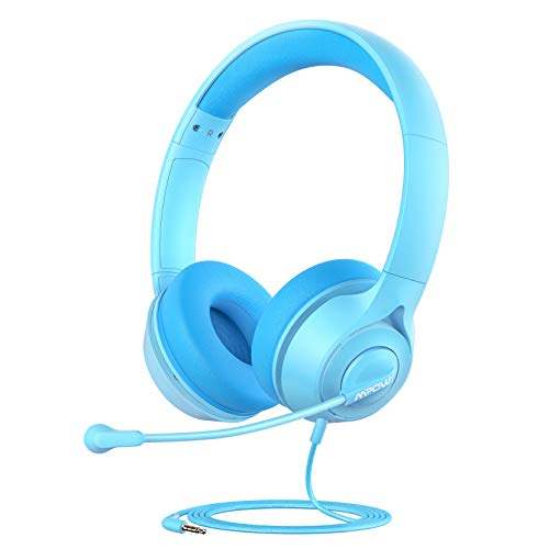 Mpow LH1 Kids Headphones with Microphone for Boys Girls, Kids Online Learning Headset with 94dB Volume Limit & Stereo…
