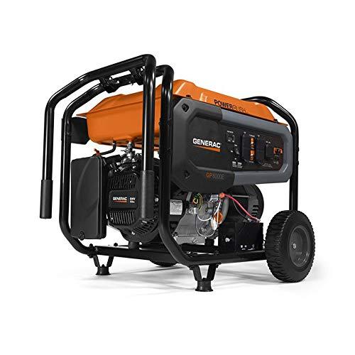 Generac 7686 Gasoline Portable Generator, Black, 420 Cc