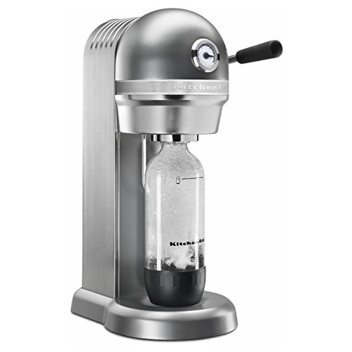 KitchenAid KSS1121CU Sparkling Beverage Maker, Contour Silver by KitchenAid