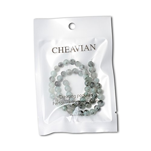 """CHEAVIAN 60PCS 6mm Natural Tianshan Blue Stone Round Loose Beads for Jewelry Making DIY Findings 1 Strand 15"""""""