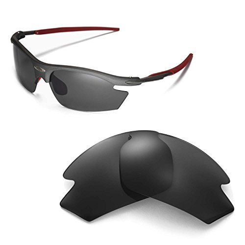 Walleva Replacement Lenses for Rudy Project Rydon Sunglasses - Multiple Options (Black - - Rudy Sunglasses