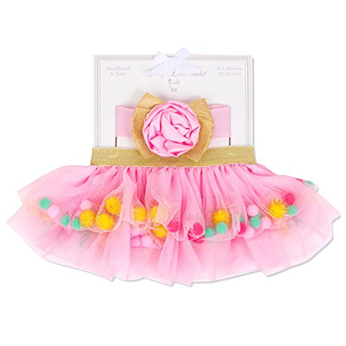 Baby Essentials Baby Girls Picture Perfect Tutu Skirt and Headband Outfit Newborn Photography Props 0-6 mth -