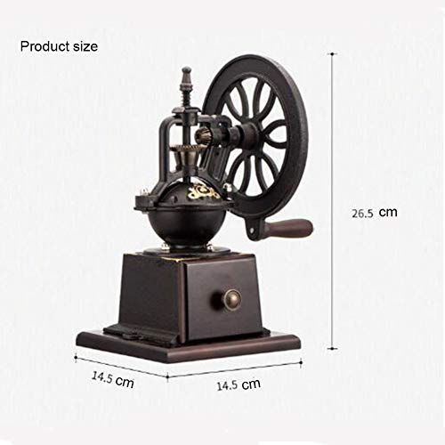 KASIQIWA Retro Ferris Wheel Hand Coffee Grinder, Manual Single Arm Bean Grinder Stainless Steel Adjustment Piece Coffee Making Machine for Household by KASIQIWA (Image #6)