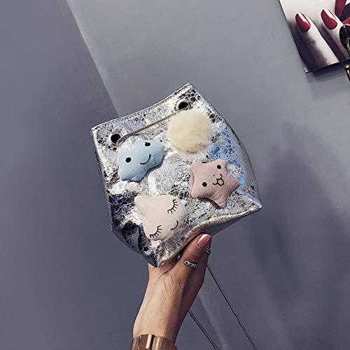 Costura pequeña Bolsa gelatina de Mujer de láser Bolsa Lentejuela Color Paquete Carta impresión Retro de Cuadrada Contraste Bolso Transparente Tendencia wtfqTxPEE