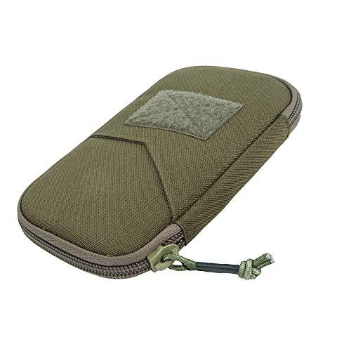 EXCELLENT ELITE SPANKER Tactical Wallet Neck Lanyard Outdoor Hiking Nylon Waterproof Wallet(Ranger Green)