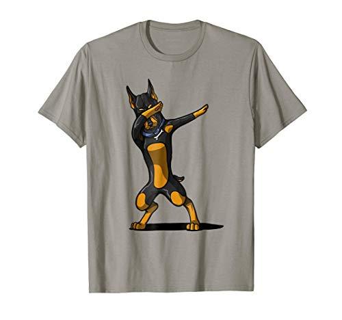 Dabbing Doberman Shirt Funny Doberman Dog Dab