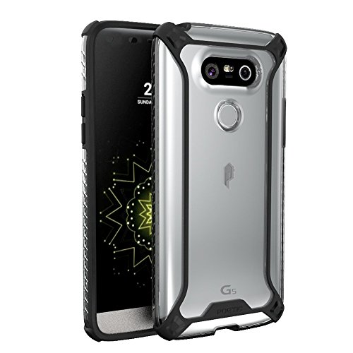 Price comparison product image LG G5 Case, POETIC Affinity Series Premium Thin/No Bulk/ protection where its needed/Clear/Dual material Protective Bumper Case for LG G5 (2016) Black/Clear
