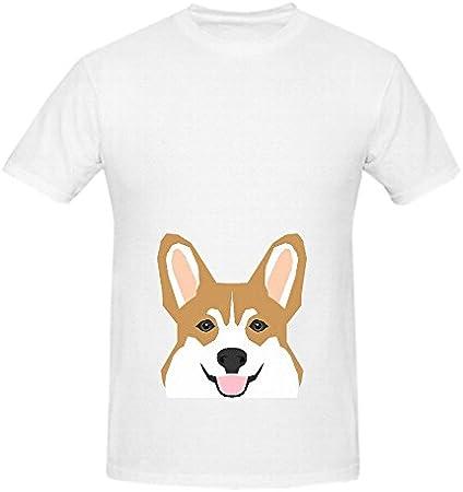 Shelby Welsh Corgi perro Hombres o cuello gráfico camiseta camisas