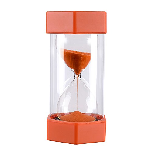 5 Minutes Plastic On Time Sandglass Hourglass Sand Timer, Orange Precise Sand Clock (Plastic Timer)