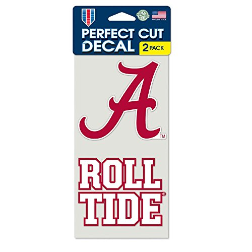 NCAA Alabama Crimson Tide 4-by-8 Die Cut Decal Alabama Crimson Tide Four