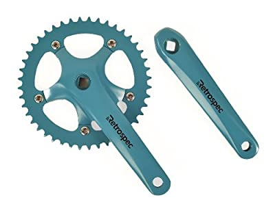 Retrospec Bicycles Fixed-Gear Crank Single-Speed Road Bicycle Forged Crankset