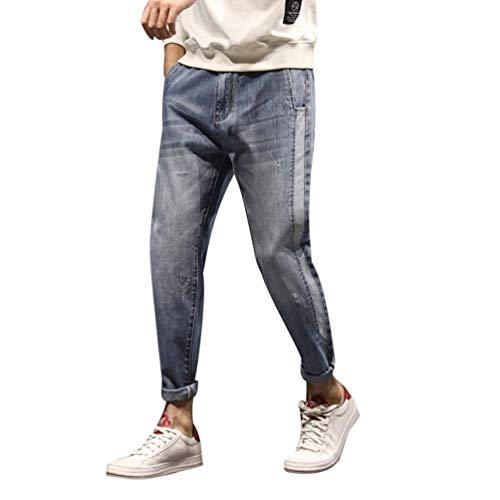 Ssige Dei R Pants D'epoca Pantaloni Elastici Rbt Casual E Harem In Giovane Jeans Blass Denim Blau Men Moda S8xAqaSr