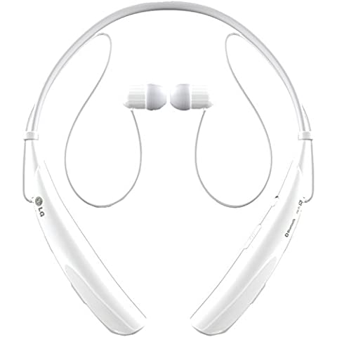 LG Electronics Tone Pro HBS-750 Bluetooth Wireless Stereo Headset - Retail Packaging - White (Lg Bluetooth Headset Tone Pro)