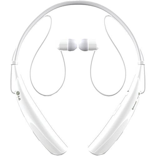Price comparison product image LG Electronics Tone Pro HBS-750 Bluetooth Wireless Stereo Headset - Retail Packaging - White