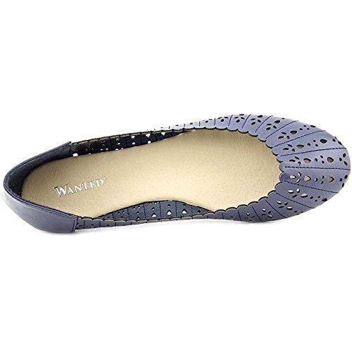 Zapatos Deseados Para Mujer Tulip Ballet Plano Azul Marino