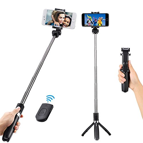 DOKRO Selfie Stick Tripod Stand Holder Extendable with Bluetooth Remote for iPhone x 8 6 7 plus Android Samsung Galaxy S7 S8 Blackberry Huawei by DOKRO (Image #7)