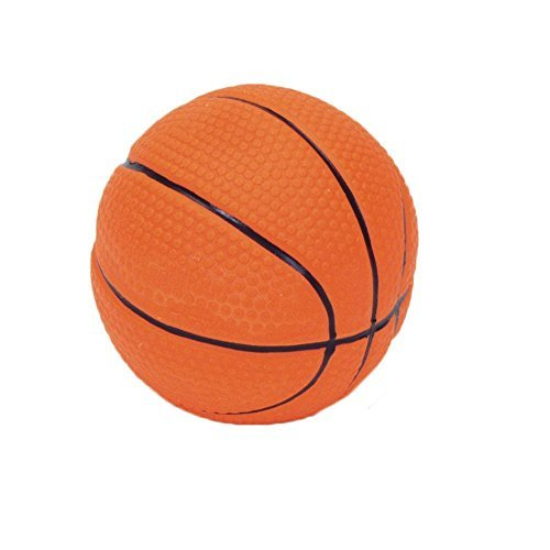 Coastal - Latex Basketball Dog Toy (2.5 Inches) (2-Pack) ()