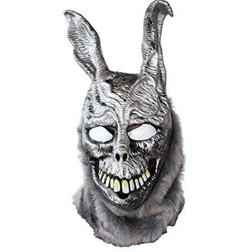 hotcoser Donnie Darko Frank Mask Halloween Full Face Evil Rabbit Helmet Cosplay Party Carnival Props for Adult Silvery]()