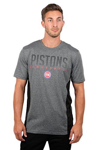 fan products of NBA Men's Detroit Pistons T-Shirt Performance Short Sleeve Tee Shirt, XX-Large, Gray