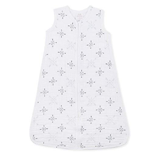 aden + anais Classic Sleeping Bag, 100% Cotton Muslin, Wearable Baby Blanket, Lovestruck, Large, 12-18 Months