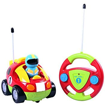 Cartoon R/C Race Car Radio Control Toy for Toddlers by Liberty Imports (ENGLISH Packaging)