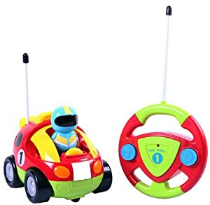 cartoon rc race car radio control toy for toddlers by liberty imports english packaging