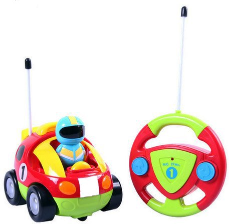 Cartoon R/C Race Car Radio Control Toy for Toddlers by Liberty Imports (ENGLISH Packaging) (Toys Car)