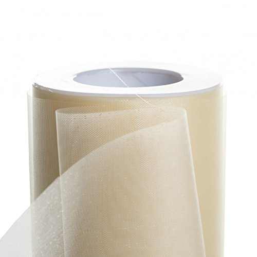 Koyal Wholesale 25-Yard Sheer Organza Fabric Roll, 6-Inch, Ivory - Organza Ivory Ribbon