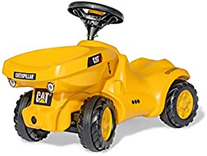 rolly toys CAT Construction Ride-On: Front-Tipping/Dumping Tractor, Youth Ages 1.5+