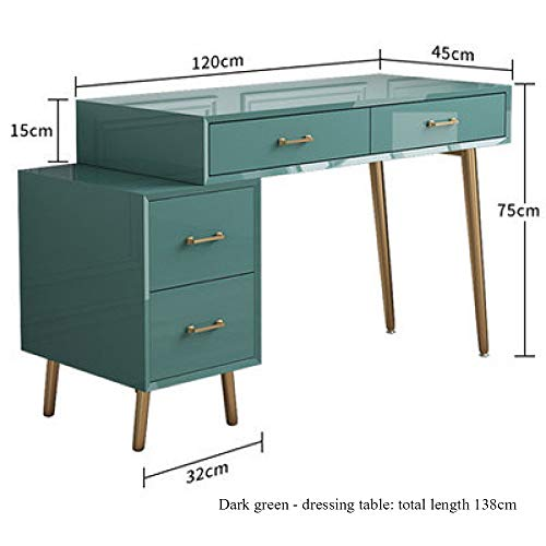 YUNXIAOHONG Dressing Table - Dressing Table Set Cosmetic Storage Box Green 120324575