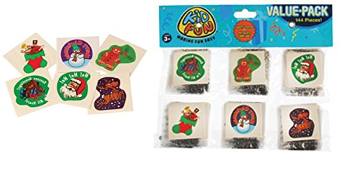 Holiday Tattoos - 288 Assorted Christmas / Holiday Temporary Tattoos PARTY FAVORS